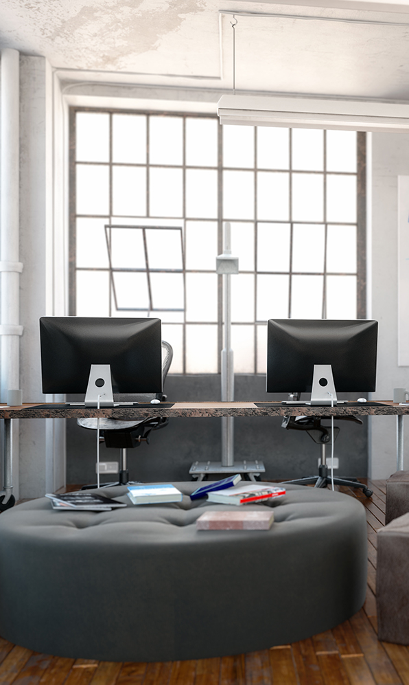 Workplace office furniture and situation for business (7)